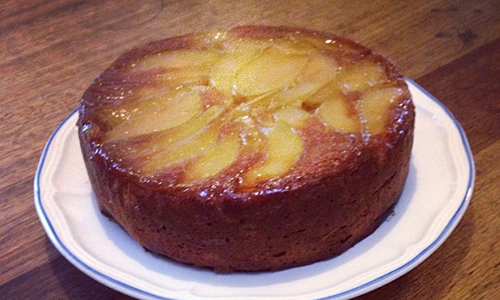 Upsidedown Pear and Ginger Cake